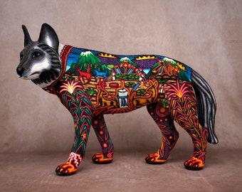 "Huichol Art ""Wolf Samirawi"""