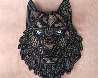 "Huichol Art ""Black Wolf """