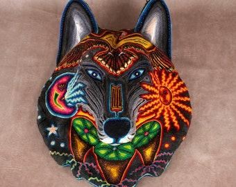 Huichol Art « Loup Samirawi 2 »