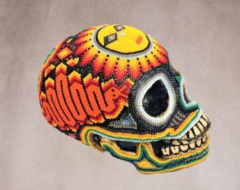 Huichol Art « Skull Snake »