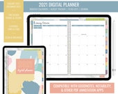2021 Digital Budget Monthly Planner for iPad - Goodnotes, Notability, PDF Annotation | Year Overview, Journal, To Do List | Paint Brush