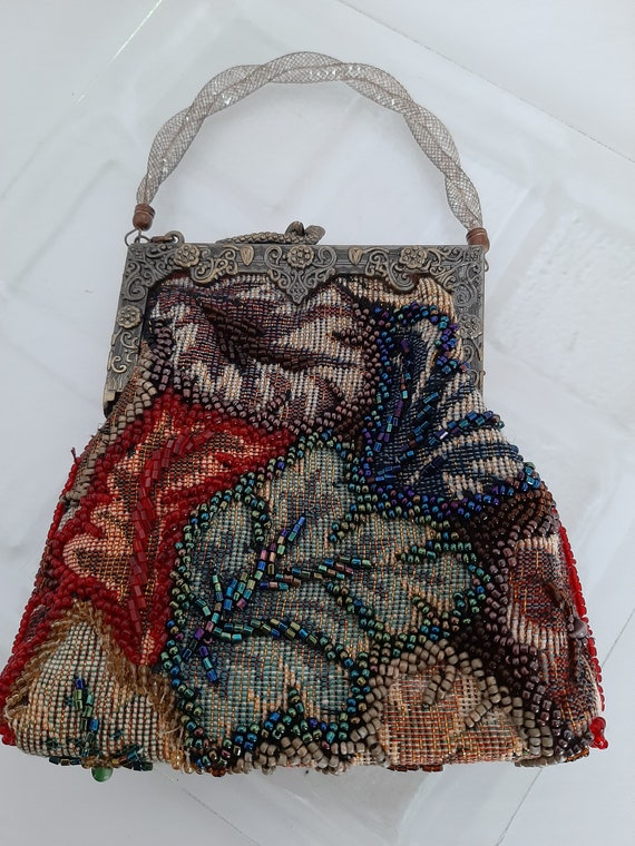 Tapestry Beaded Evening Bag