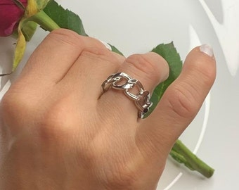 Boho Ring-Mother/'s Day Gift-Gift for Him-Gift For Her-Chunky Ring-Adjustable Ring-Bohemian Ring-Punk Hippie Ring-Statement Ring-925 Silver