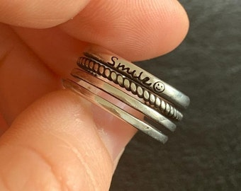 925 Sterling Silver Ring Adjustable Thumb Ring, Layered Weaved Cross Ring