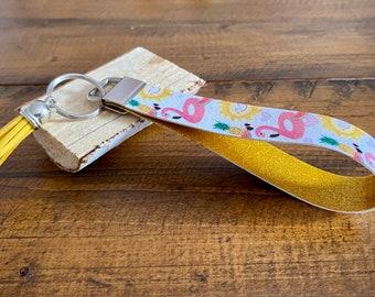 Flamingo Car Violin Charm Pendant Gold Tone Enamel Epoxy Drop Handmade Jewelry Finding 10 pcs