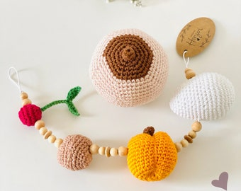 """Teaching Equipment Kit """"Weekly Bed"""" - Baby Stomach Size Chain, Breast/Still Model for Midwife, Doula, Breastfeeding Counselling etc."""