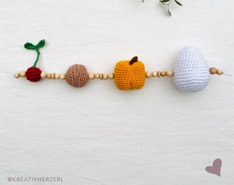 Baby stomach size chain crocheted