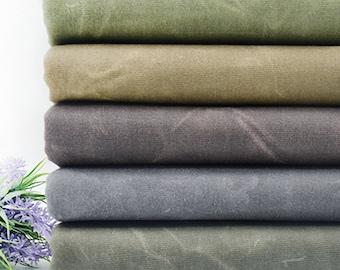 Hand Waxed Cotton Canvas Fabric, 8oz Waxed Canvas Fabric, Waterproof Fabric, Waxed Beeswax Fabric, By the Half Yard
