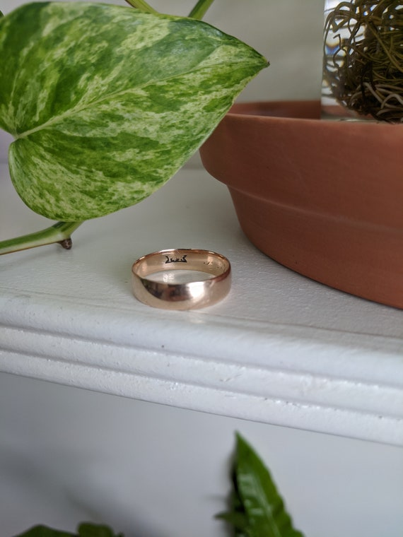 14K Gold Wedding Ring/Band - Antique, Victorian