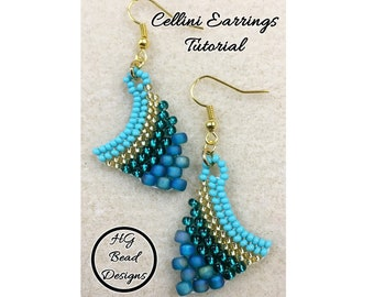 Cellini Earrings Beading Tutorial Pattern