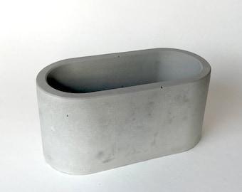 Oval Concrete Planter