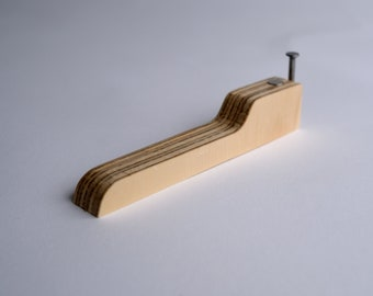 Bent Nail + Wood Bottle Opener