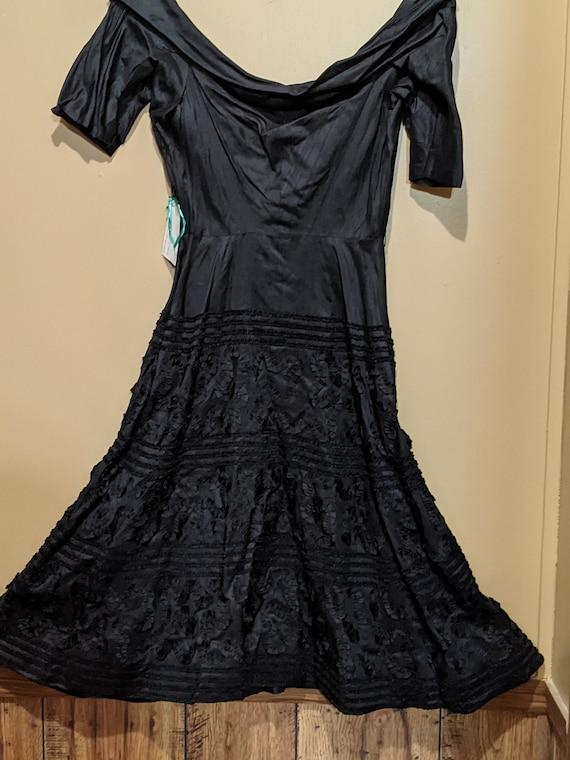1920's black vintage dress