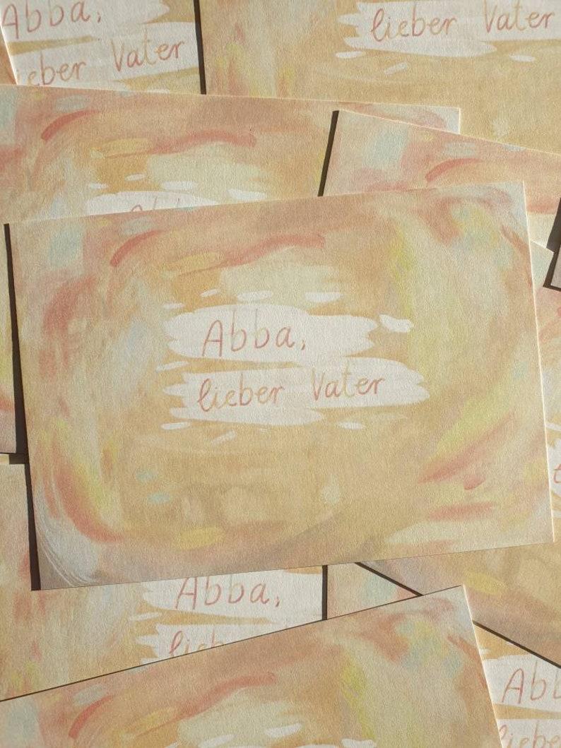 Postcard Abba Dear Father Galatians 46 Bible image 0