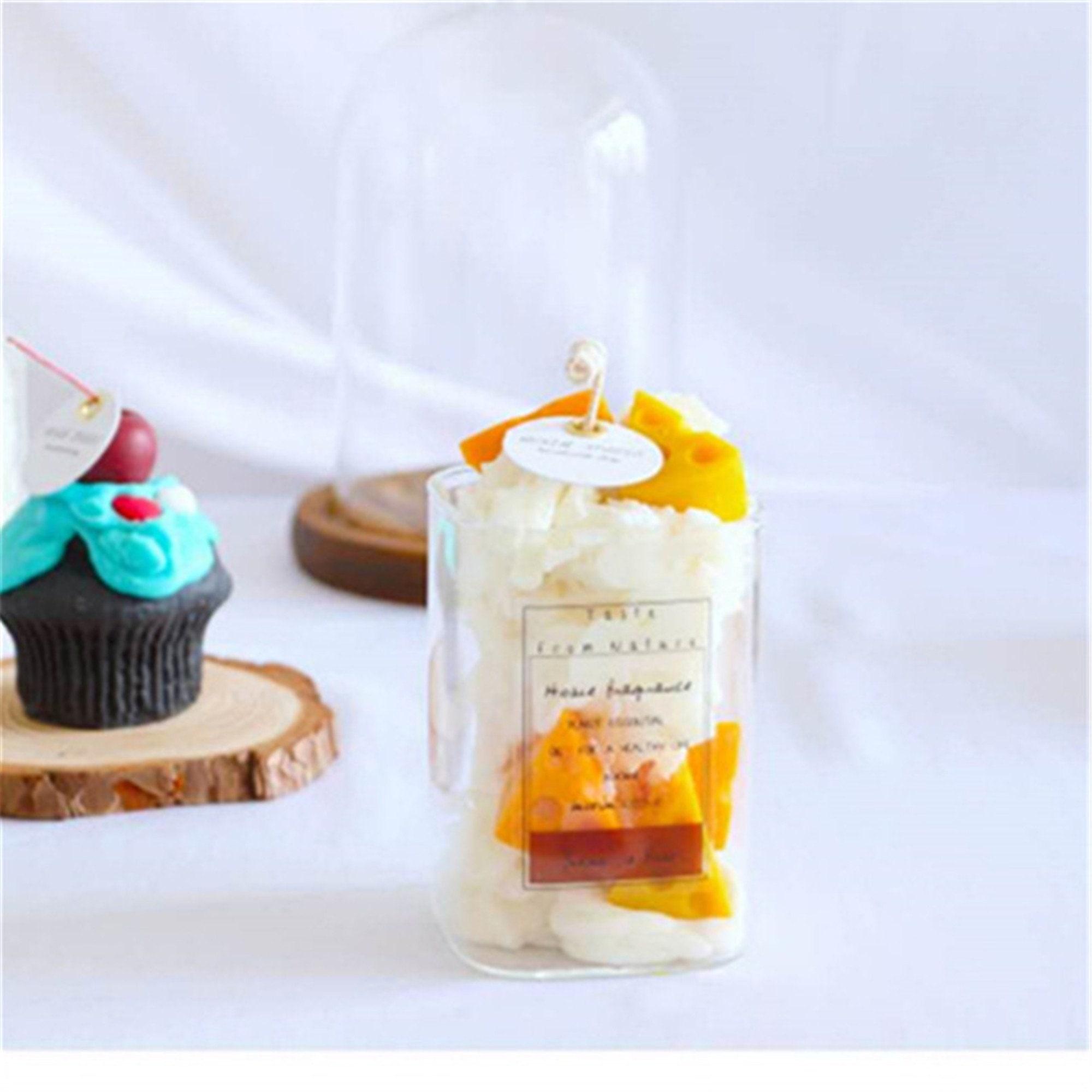 Käse-Käse-Joghurt-Tasse duftende Kerze Dekoration Schießen