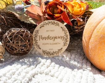 My First Thanksgiving Baby Milestone   Milestone Sign, Milestone Keepsake, Baby's First, Holiday, Thanksgiving, Thanksgiving 2021