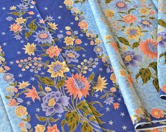 Kain Batik Indonesia Lasem Classic Batik Tulis Genuine Batik Artwork Blue Chrysantemum Authentic INDONESIAN BATIK Hand Drawn FABRIC