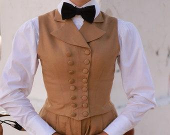 "Vest ""Suffragette"" in Edwardian Victorian style"