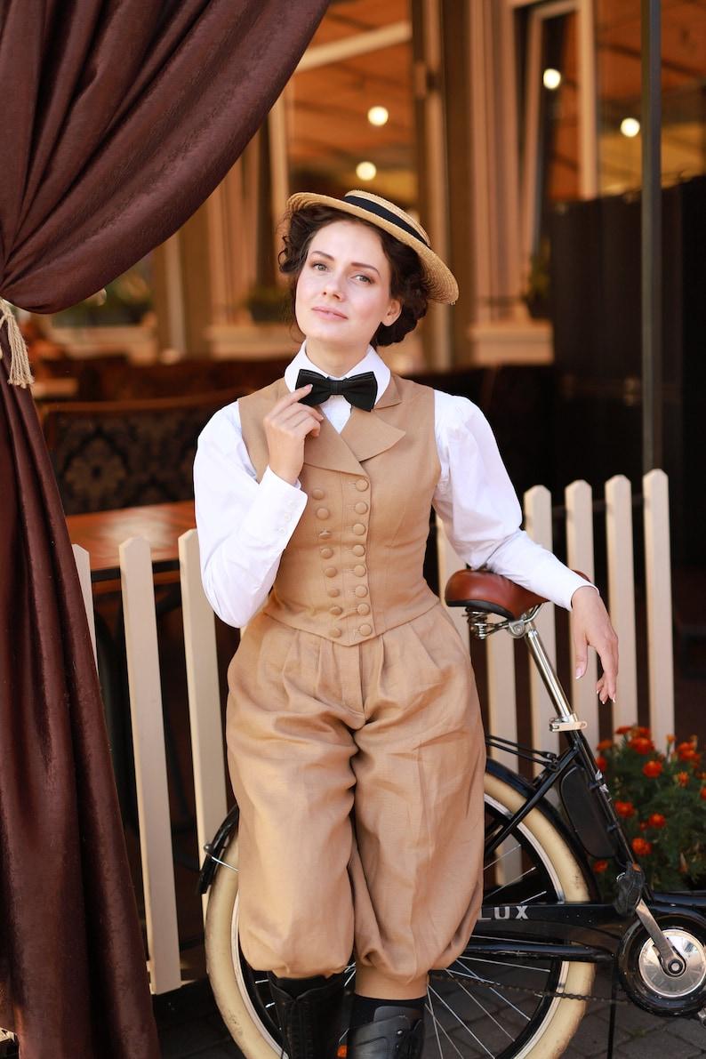 Victorian Blouses, Tops, Shirts, Vests, Sweaters     Vest Suffragette