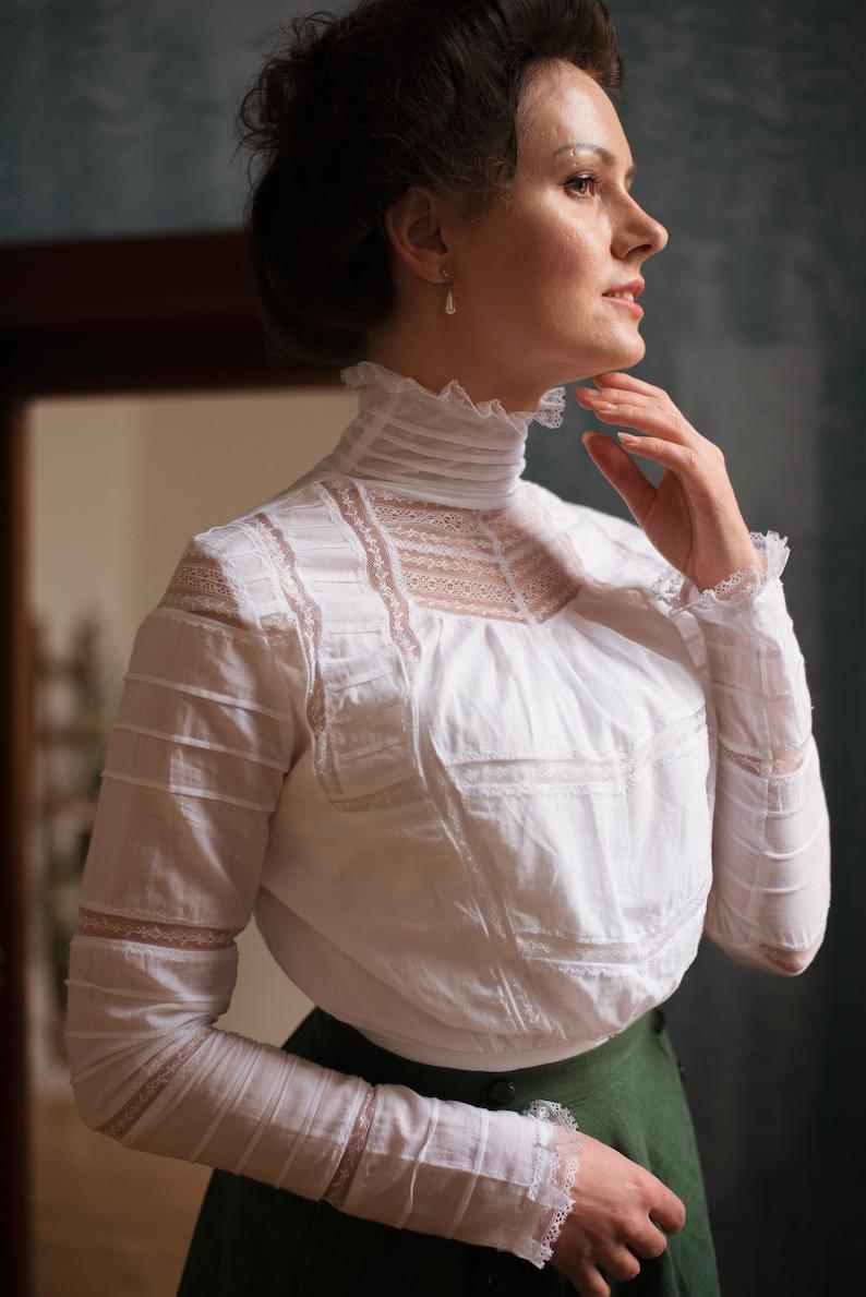 1900 -1910s Edwardian Fashion, Clothing & Costumes Blouse