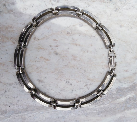 Vintage steel choker necklace from the fifties, Ch