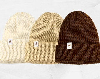 Neutral Knitted Beanies, Handmade Unisex Knitted Slouchy Beanie, Winter Essential & Fashion Gifts