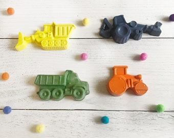 Custom Fun Construction Crayons, Personalized Name Crayons, Construction Party Favor for Kids, Construction Crayon Art Birthday Gifts