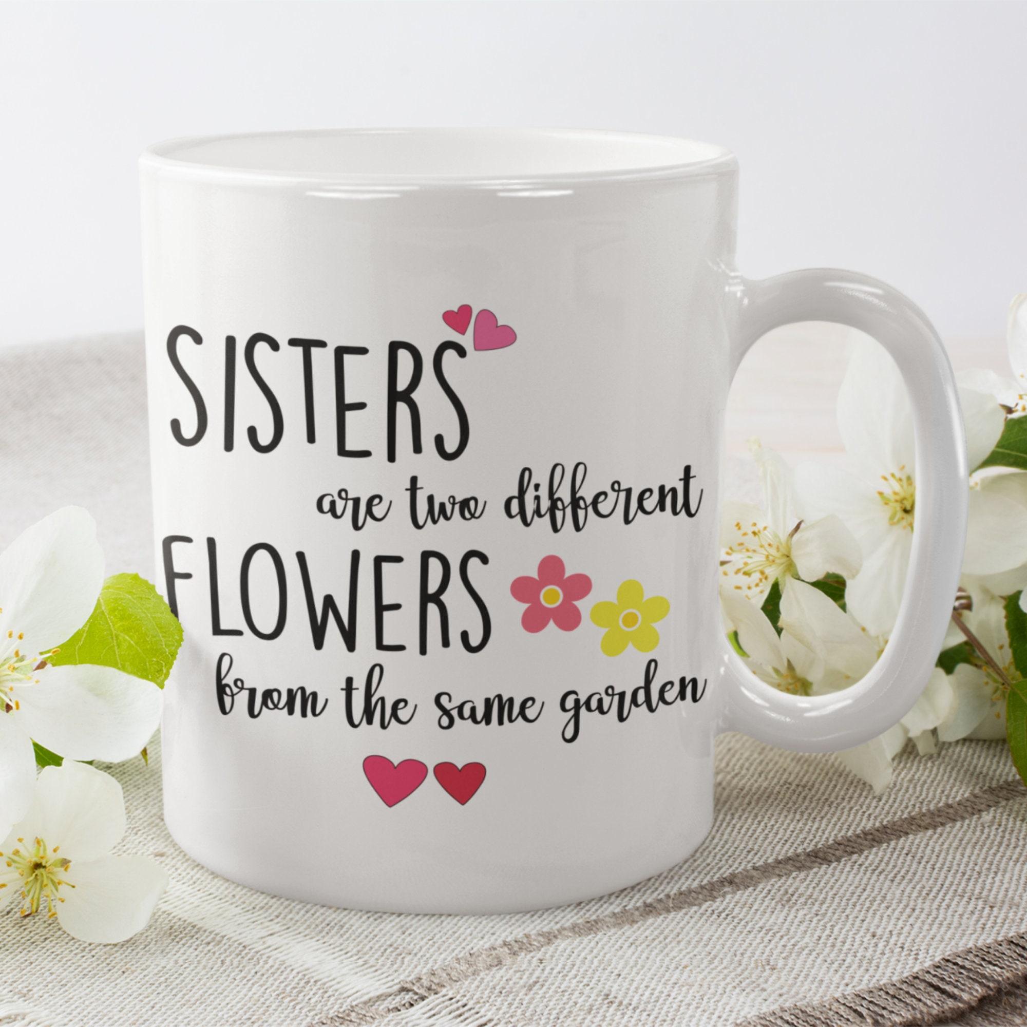 Schöne Geschenk für sie Schwester Kaffeebecher Schwester
