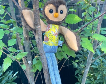 Owl doll, wise old owl, owl doll, owl stuffie, owl, owl lover, wise owl,