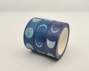 Bullet Journal Tape Moon Washi Tape Eco Friendly Tape Watercolour Moon Washi Tape Moon Phases Washi Tape