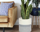 Woven Rattan Planter Pot Storage Basket