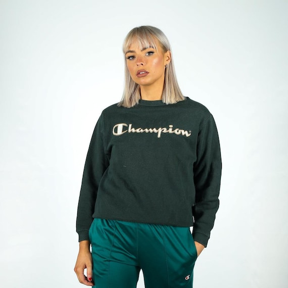 Vintage Champion  Sweatshirt in Green