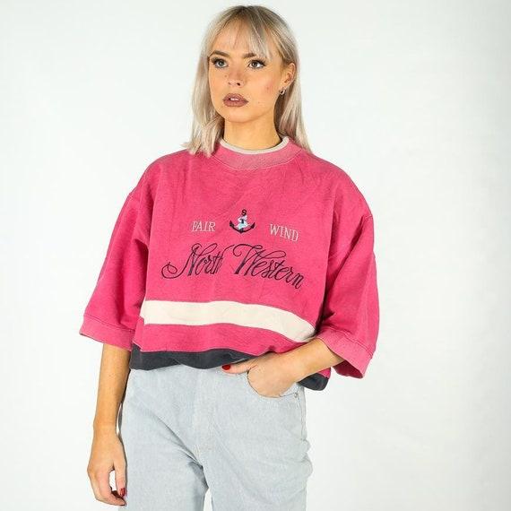 Vintage Northwestern Short Sleeve Sweatshirt in Mu