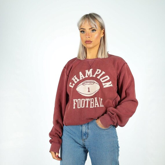 Vintage Champion  Sweatshirt in Maroon