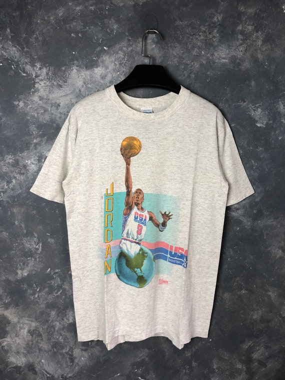 90s Vtg Michael Jordan by Salem Sportwear Tshirt/V