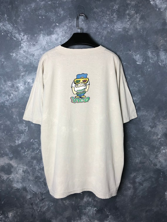 "90s Vtg JNCO ""X-Ray Glasses"" Skateboards Tshirt/Vt"