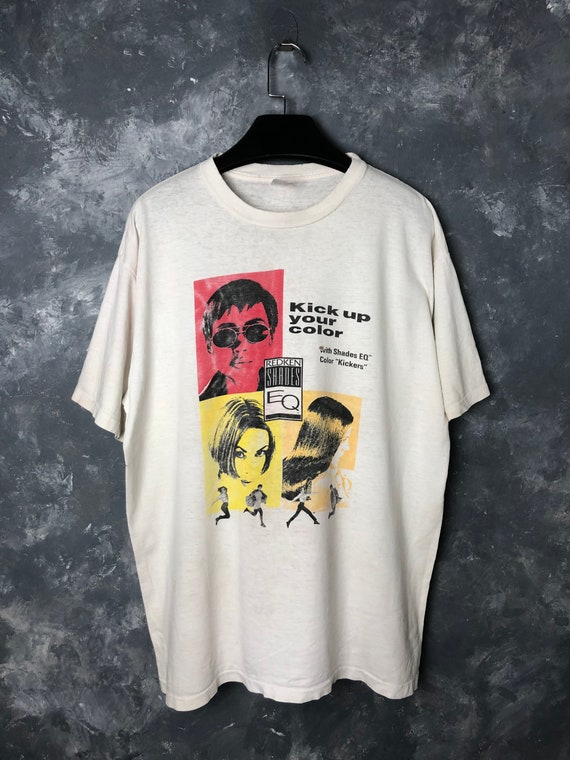 90s Vtg Redken Shades EQ Advert Tshirt/Vtg 90s Red