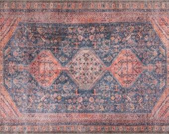 Oushak Rug,Vintage Oushak Rug,Turkish Oushak Rug,Anatolian Handwoven Oushak Rug,Floor Rug No:04534