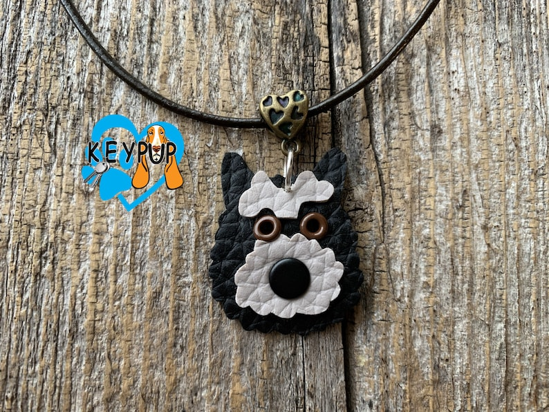 Cairn Terrier Necklace Leather Dog  Jewelry Custom Pet Loss Pet Sympathy Dog   Memorial Gift Personalized Birthday Gift