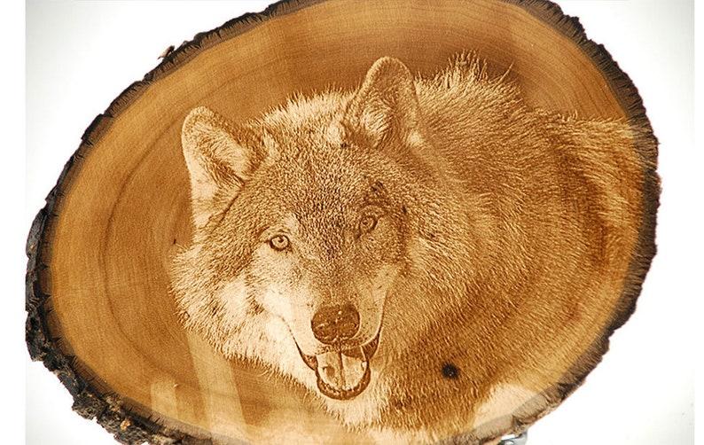 Laser Engraved Wood Photo