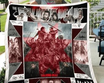 The Walking Dead 10th Anniversary 2010-2020 Fleece Blanket 50x60x80 Made In US