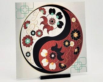 Yin yang wall art, ying yang metal wall art, home decor gift for mom, housewarming gift for new home, office decor signs, yin and yang