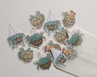 12pc Hanging Basket Stickers