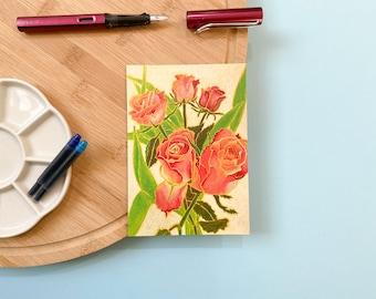 Postcard: Roses