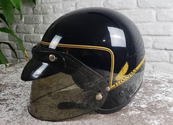 Vintage 1970 Honda Motorcycle Helmet with sun viso