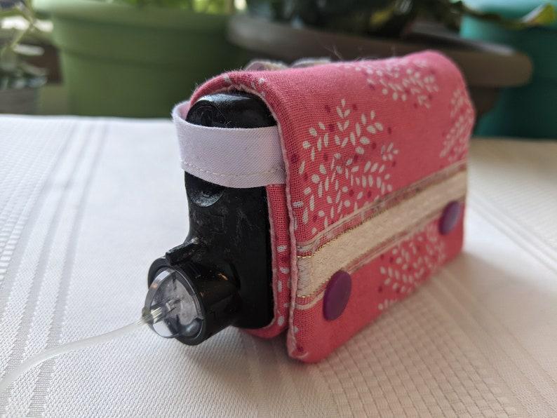 Cherry Blossom  handmade insulin pump case