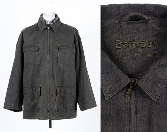 Barbour Natural Weathered Jacket Field Grey Olive