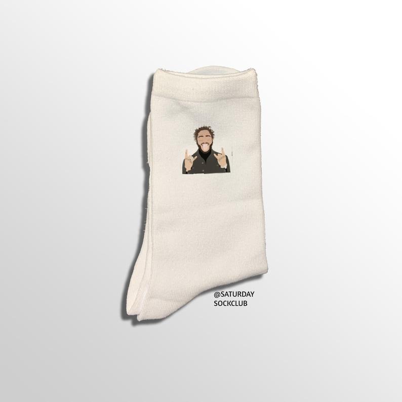 Post Malone White Socks Unisex Post Malone Merch Post Malone Gift Idea