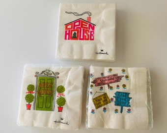 Vintage NIP Murray Funny Beverage Cocktail Napkins Set of 20 Always at the Bar.- Murray napkins I/' I Don/'t Need To Find Myself