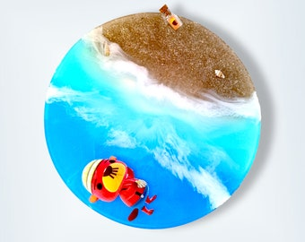 ACNH Pascal Beach Round Tray Decor Customize Gift DIY Bottle Fish Shadow Star Fragment Options